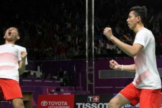 Atlet Bulu Tangkis Ganda Putra Indonesia Fajar-Rian Raih Gelar Juara Di India