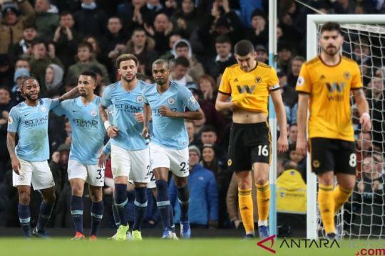 Kalahkan Wolverhampton 3-0 Manchester City dekati Liverpool di puncak klasemen