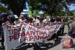 Warga demo tolak penggantian nama Lapangan Haji Hayun Tolitoli