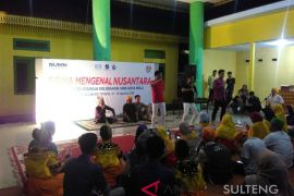 Peserta SMN Bangka Belitung belajar kebudayaan kaili (Vidio)