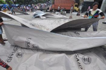Tenda bantuan Amerika Serikat untuk korban gempa Palu