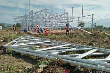 Pembangunan huntara oleh Kementerian PUPR