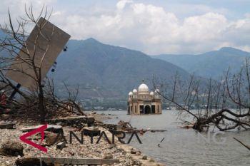 Kondisi terkini Masjid Apung di Teluk Palu