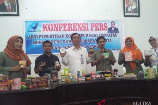 BPOM Kendari amankan produk kosmetik tanpa izin