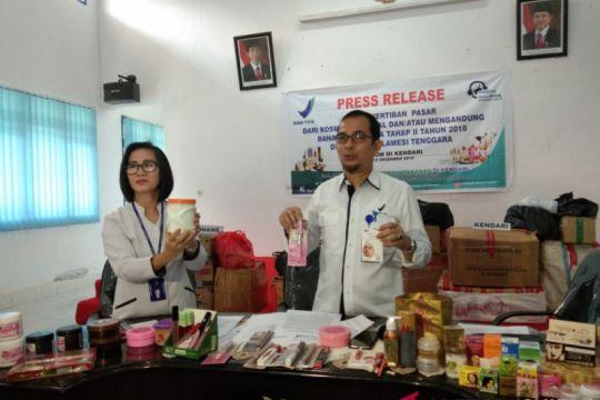 BPOM Kendari amankan 2.479 kosmetik ilegal