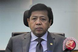 Setya Novanto  berstatus terdakwa dalam perkara KTP-e