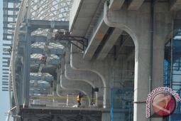 Pekerjaan LRT Palembang rampung 70 persen