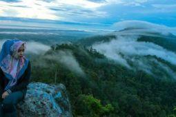 Ratusan wisatawan tahun baru dengan Samudra awan