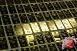 Emas naik tipis dipicu pelemahan dolar