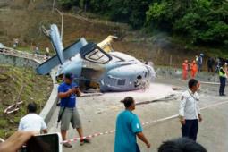 Helikopter angkut karyawan tambang jatuh di Kendari