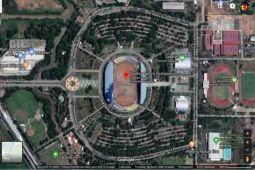 Melihat stadion Asian Games lewat Google Maps