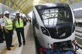 Kemenhub pastikan LRT Palembang beroperasi Juli 2018