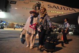 Ribuan jamaah haji sudah tiba di Sumsel