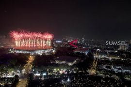 Meriahnya pembukaan Asian Games 2018 di GBK Jakarta