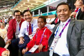 Joni saksikan pembukaan Asian Games di GBK