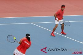 Tenis ganda putra Indonesia di Asian Games habis