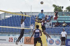 Asian Games - Tim voli pantai putra Indonesia kalahkan Palestina