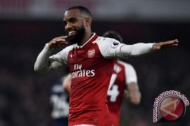 Lewat gol Lacazette Arsenal bungkam Everton