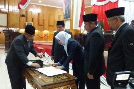DPRD Sumsel Paripurna penandatanganan nota kesepakatan  KUA dan PPAS