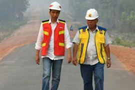 Presiden Jokowi tinjau pembangunan Jalan Trans Papua