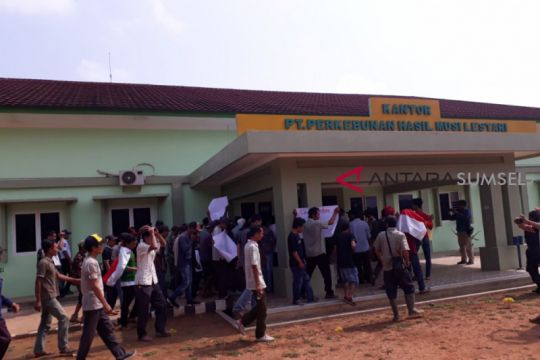 Ratusan masyarakat desa binjai demo PT PHML