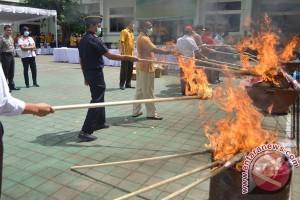 Barang Bukti Kasus Narkotika di Semarang Dimusnahkan