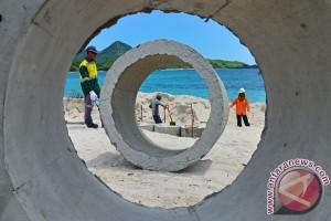 Pembangunan Penahan Gelombang Pantai Sigandu Selesai Akhir 2015