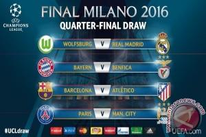 Hasil Pengundian Perempat Final Liga Champions