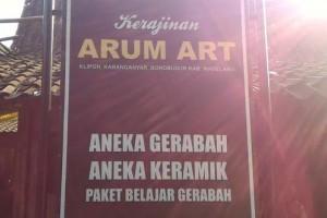 Desa Gerabah Klipoh Borobudur Ramai Wisman