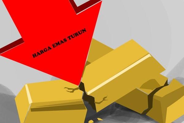 Penguatan Dolar dan Saham AS Akibatkan Emas Turun