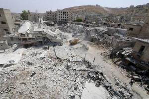 22 Tewas, Jet Tempur Suriah Bom Pemberontak di Timur Damaskus