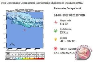 BPBD Laporkan 24 Rumah Rusak Akibat Gempa 5,4 SR Tasikmalaya