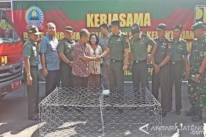Korem Warastratama Surakarta dan BBWS Perbaiki Irigasi
