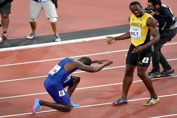 Gatlin Ungguli Bolt Raih Gelar Dunia