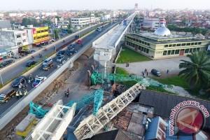 Dua Pekerja LRT Palembang Tewas Terjatuh dari Tiang Penyangga