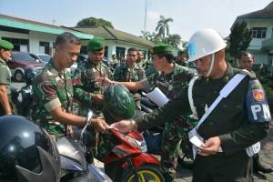 Kendaraan Dinas-Pribadi Prajurit Makorem 071/Wijayakusuma Diperiksa Mendadak