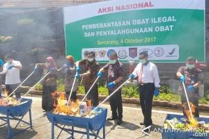 BBPOM Semarang Musnahkan Produk Ilegal Senilai Rp3,4 Miliar