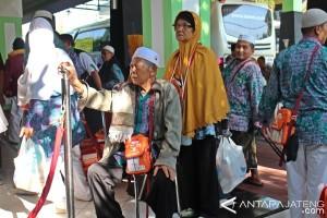 311 Haji Kloter Terakhir Debarkasi Solo Tiba di Bandara Soemarmo