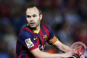 Iniesta sebut masa depannya di Barcelona tak pasti