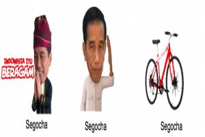LINE Bersama Kantor Staf Kepresidenan Merilis Stiker LINE X Presiden Jokowi