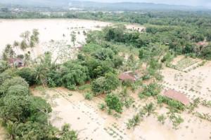 Basarnas Cilacap Evakuasi Korban Banjir Desa Madura
