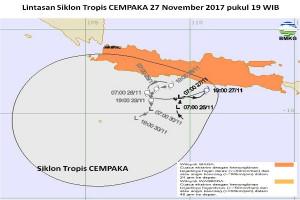 BMKG Banjarnegara: Melemah Siklon Cempaka Pengaruhi Kondisi Cuaca