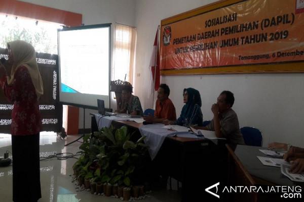 KPU Temanggung Sosialisasikan Dapil Pemilu 2019