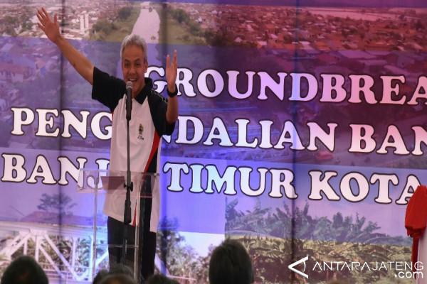 bantaran BKT Semarang sisakan 800 bangunan