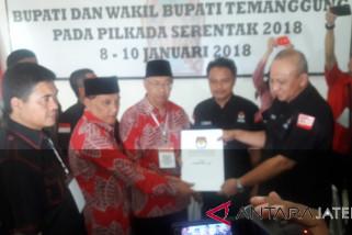 Petahana Bupati Temanggung mendaftar di KPU
