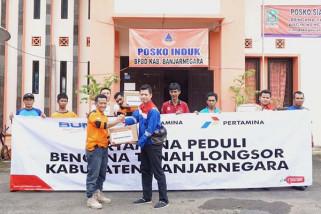 Korban longsor Banjarnegara terima bantuan Pertamina