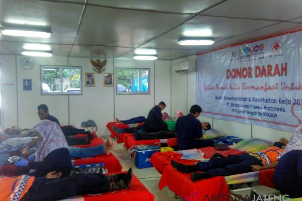 PLTU Batang selenggarakan donor bulan keselamatan kerja
