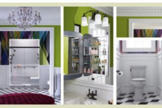 Tiga inspirasi tren color block untuk kamar mandi