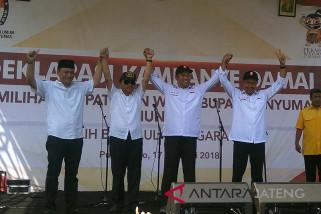 Pasangan calon Bupati Banyumas deklarasikan kampanye damai