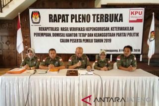 16 parpol di Temanggung lolos verifikasi faktual KPU